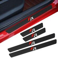 4 шт., водонепроницаемые наклейки из углеродного волокна для Seat FR + Leon Ibiza cupra, автомобильные аксессуары