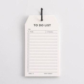 Yapılacaklar Listesi Günlük Program Not Defteri El Boyutu Gevşek Yaprak Memo Notları Pedleri Taşınabilir Ofis Kırtasiye Papeleria