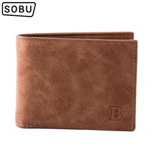 2019 New Fashion PU Leather Men's Wallet With Coin Bag Zippe