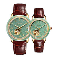 Jade lovers watch leather strap automatic mechanical 30M waterproof personality fashion high end watches