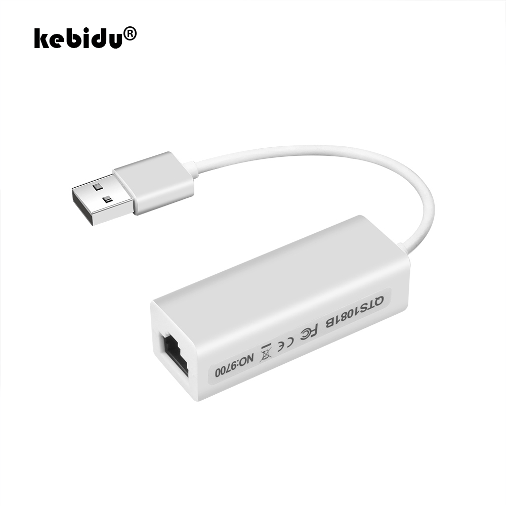 Суперскоростной адаптер USB 2,0 к RJ45 USB к сети Ethernet LAN, адаптер 10 Мбит/с для Windows 7, ПК, ноутбука, LAN адаптер