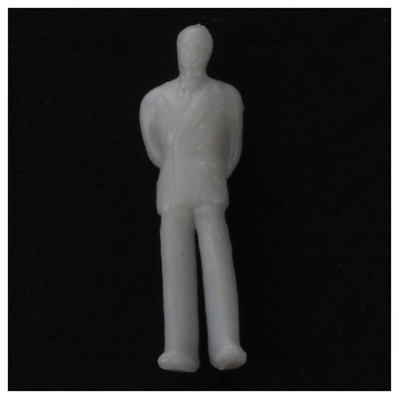 Nowy 100 sztuk Model pociągu ludzie figurki skala HO TT (1 do 100), różne styl, świetne przedmioty kolekcjonerskie-jasny szary