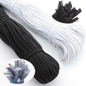 1/2/3/4/5mm High-Quality Round Elastic Band Cord Elastic Rubber white black Stretch rubber For Sewing Garment DIY Accessories(China)