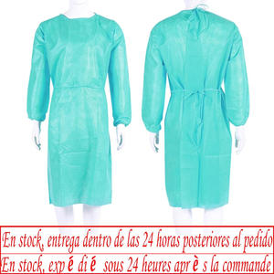 Safety Suit Overalls Isolation-Suit Disposable Laboratory-Protective-Suit Green Non-Woven
