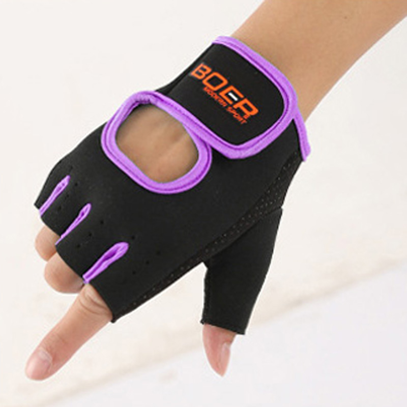 BOER Women/Men Half-Finger Gym Gloves Sports Exercise Fitness Cycling Non-slip Optional Style Size