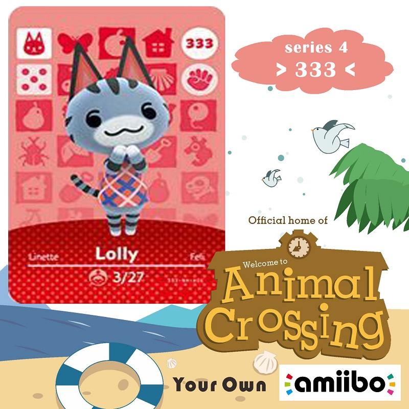 333 Animal Crossing Amiibo Card Lolly Amiibo Card Animal Crossing Series 4 Lolly Nfc Card Work For Ns Games Dropshipping