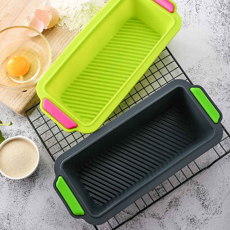 Silicone Bread Loaf Mold Cake Non Stick Bakeware Bake Pan Oven Soap Mold Bread Mousse Toast Pan Cake Form Bakeware Kitchen Tools