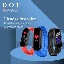 D.o.t inteligente pulseira de fitness mi banda 4 m5 assista passos contador cronômetro monitor freqüência cardíaca esportes pedômetro