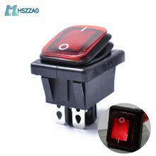 12V 4PIN водонепроницаемый кулисный переключатель с лампой Dpst DPST для автомобилей и устройств, оснащенных источник питания постоянного тока лодки