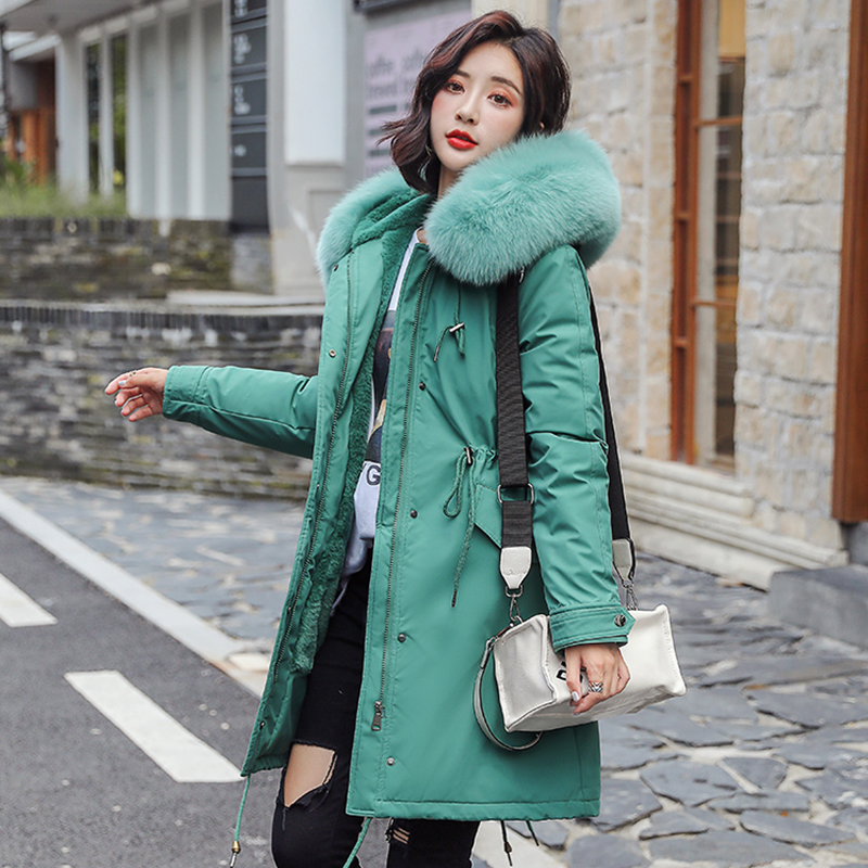 Winter Parkas 2019 Winter -30 Degree Women's Parkas Coats Hooded Fur Collar Thick Warm Winter Jackets Snow Coat Jacket Women