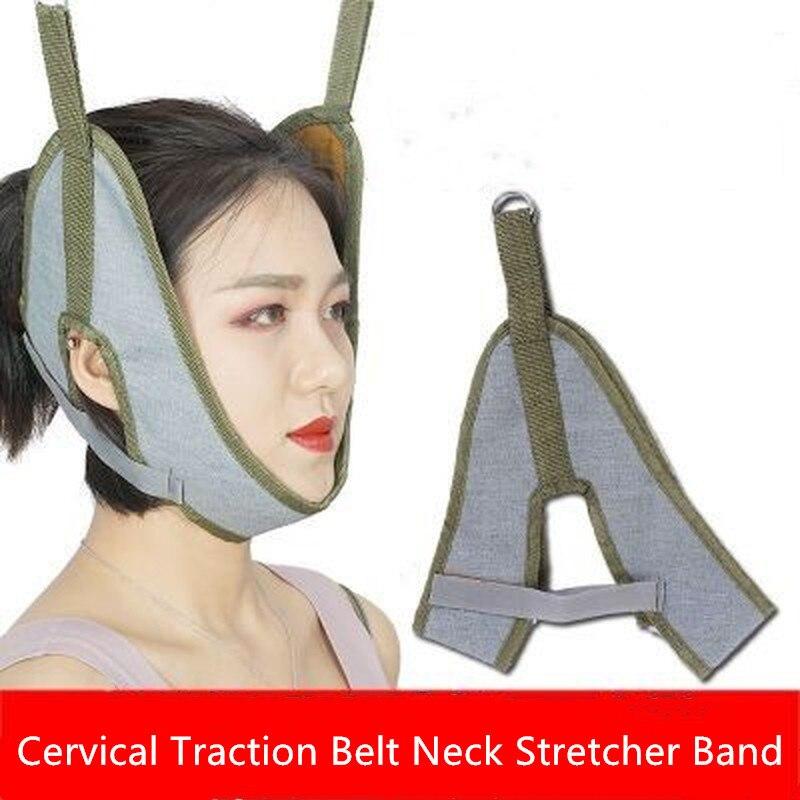 Шейный ремень для растяжки шеи, ремешок для восстановления позвоночника, забота о здоровье, растягивающиеся фиксирующие ремни для шеи для в...