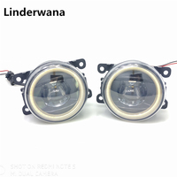 For Citroen C3 FC Hatchback 2005 2010 Car styling New Led Fog Lights 20W 6000K Angel Eyes DRL Fog Lamps 2pcs