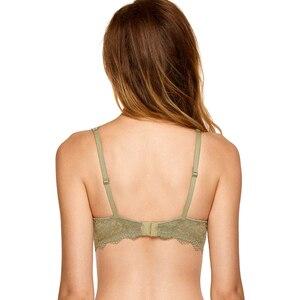 Image 4 - Dobreva mulher sem forro mergulho bralette lingerie sexy para mulher sutiã de renda underwire