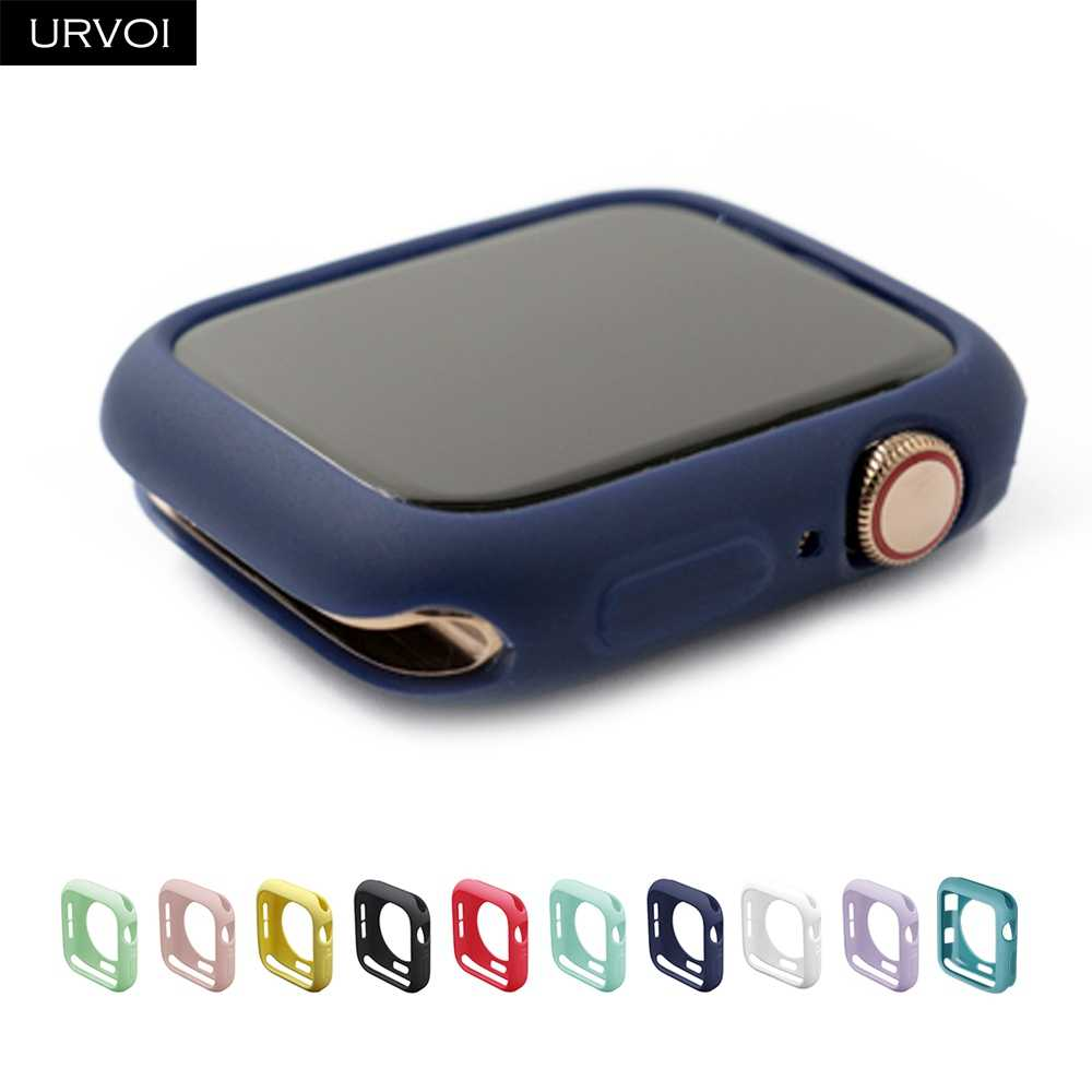 URVOI Bumper for apple watch series 5 4 3 2 case for iwatch candy color TPU cover slim fit protector Ultra-thin band 40mm 44mm
