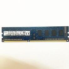 Sk Hynix ddr3 carneiros 4GB 1Rx8 PC3L-12800U-11 / 1RX8 PC3-12800U-11 DDR3 4GB 1600MHz 240pin memória RAM de DESKTOP