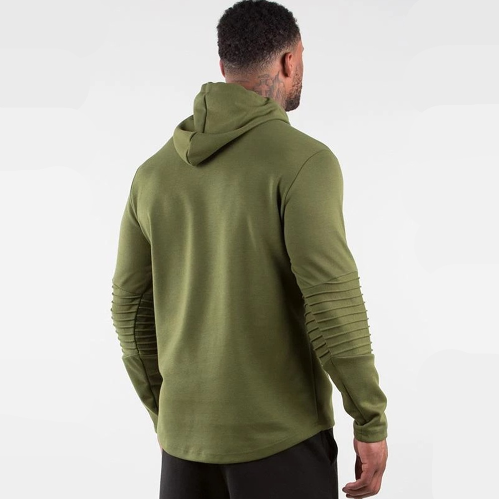 Image 4 - Army Green Casual Hoodies Men Cotton Sweatshirt Gyms Fitness Workout Pullover Spring Male Hooded Sportswear Tops Brand ClothingHoodies & Sweatshirts   -