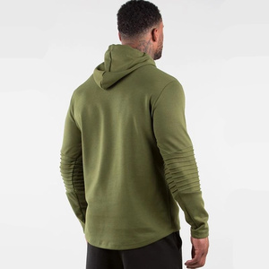 Image 4 - Army Green Casual Hoodies Men Cotton Sweatshirt Gyms Fitness Workout Pullover Spring Male Hooded Sportswear Tops Brand Clothing