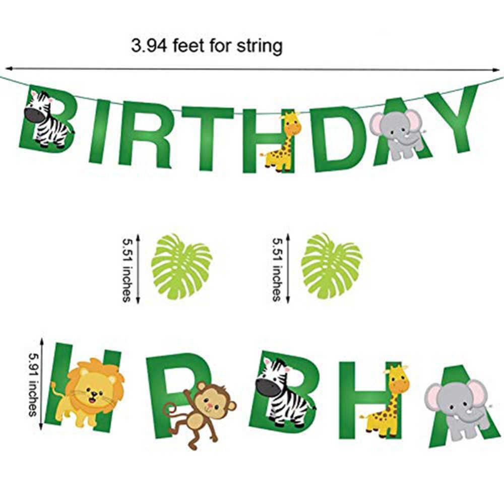 Детский душ животное шарики для день рождения для вечеринки в стиле сафари Джунгли Тема вечерние шары Свадебная вечеринка Декор ребенок день рождения шар