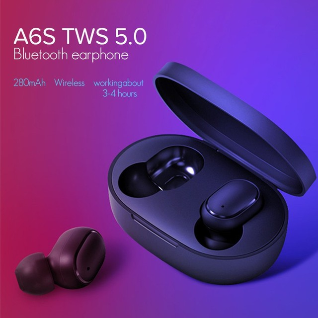 TWS A6s Auriculares Bluetooth 5.0 Mini Headset for Redmi Airdots True Wireless Earbuds Running Earphone for Samsung Mi Air Dods