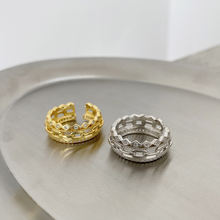 Женское кольцо на указательный палец с двумя слоями