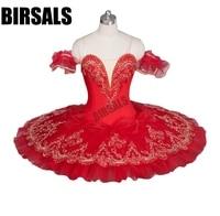 Red Flower Fairy Romance La Esmeralda Professional Ballet Tutu Costume Girls Kids Ballerina Sugar Plum Fairy TutuBT9046