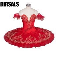 Red Flower Fairy Romance La Esmeralda Professional Ballet Tutu Costume Girls Kids Ballerina Sugar Plum Fairy TutuBT9046