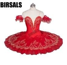 赤い花の妖精ロマンスラエスメラルダプロのバレエチュチュ衣装女の子子供バレリーナ砂糖梅妖精 TutuBT9046