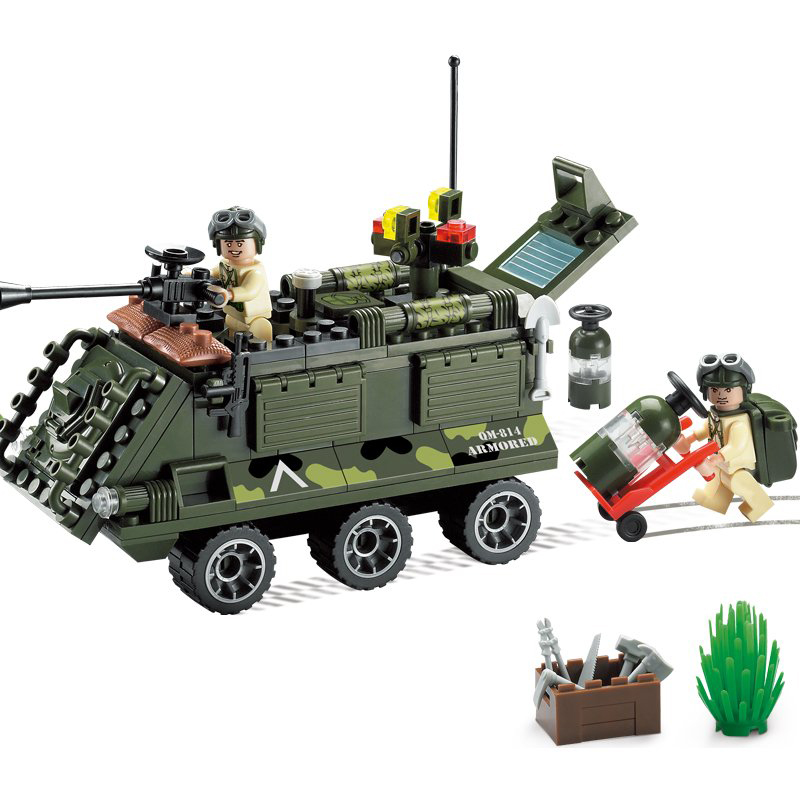 Models building toy 814 167Pcs Military Army Truck Panzer Building Blocks compatible with lego military toys & hobbies