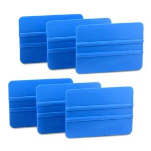Image 4 - Ehdis 6 pçs adesivo de fibra de carbono instalar plástico raspador vinil filme carro embrulho rodo de água limpador limpeza janela matiz ferramentas