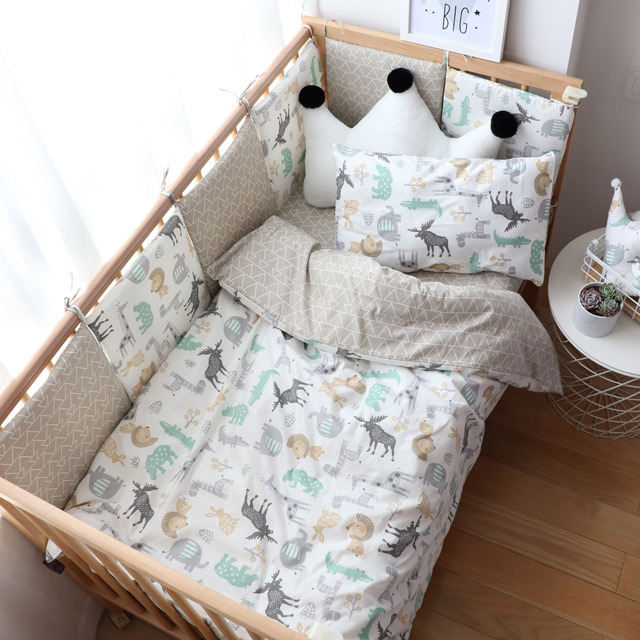 Baby Bedding Set Nordic Cotton Woven Baby Bed Linen For Newborns Kid Crib Bedding For Boy Girl Nersury Offer Custom Make Service | Happy Baby Mama