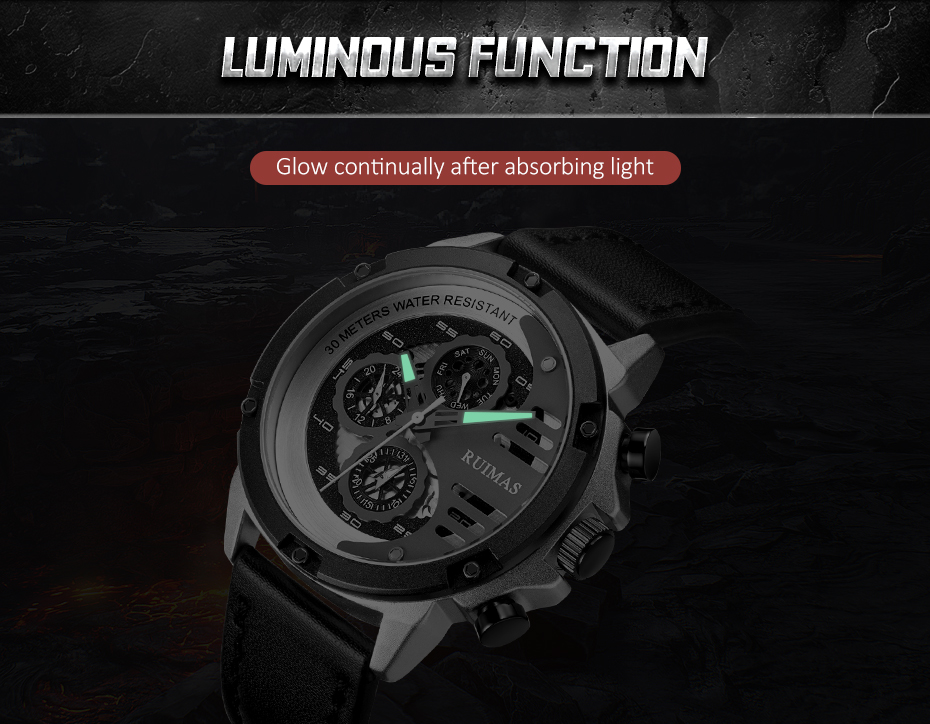 quartzo reloj hombre luxo presente