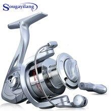 Sougayilang – moulinet de pêche à tambour fixe 1000 à 3000, équipement à Ratio de 5.2:1, adapté à la pratique en mer, en eau salée et douce
