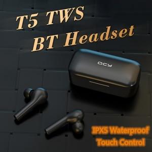 Image 5 - QCY T5 2019 prawda bezprzewodowe słuchawki Bluetooth 5.0 sterowanie dotykowe słuchawki sportowe zestaw słuchawkowy Stereo