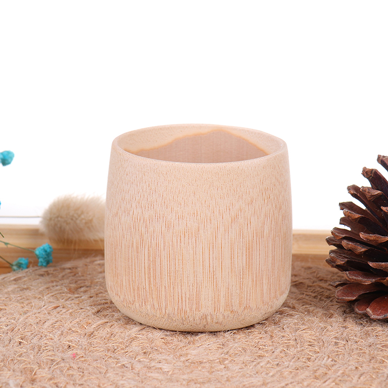 Natural Bamboo Drinking Cup Tea Beer Vintage Coffee Juice Milk Cup Japan Style Wooden Cup Breakfast Beer Milk Drinkware