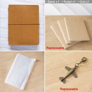 Image 2 - Cahier 100% en cuir véritable, planificateur fait à la main, cire dhuile, Agenda, carnet de croquis, Agenda, papeterie scolaire personnelle
