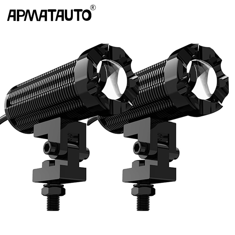 2pcs 10000lm LED Motorcycle Headlight For KTM KAWASAKI SUZUKI DUCATI BMW Spotlight Waterproof Fog Spot Motos Bulb Super bright
