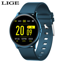 LIGE New IP68 Waterproof Women Smart Watch Men Heart Rate Blood Pressure Monitor Color Screen Smartwatch For IOS Android phone(China)