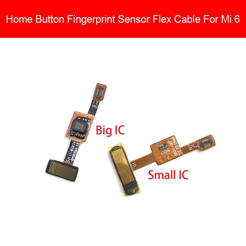 Home Button Flex Cable For Xiaomi Mi 6 Mi6 Menu Key Fingerprint Recognition Sensor Flex Ribbon Cable Replacement Repair Parts