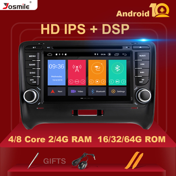 IPS DSP 2 Din Android 10 Car Multimedia Player For AUDI TT MK2 8J GPS Navigation Radio DVD Head unit Stereo Audio 8 core 4GB 64G