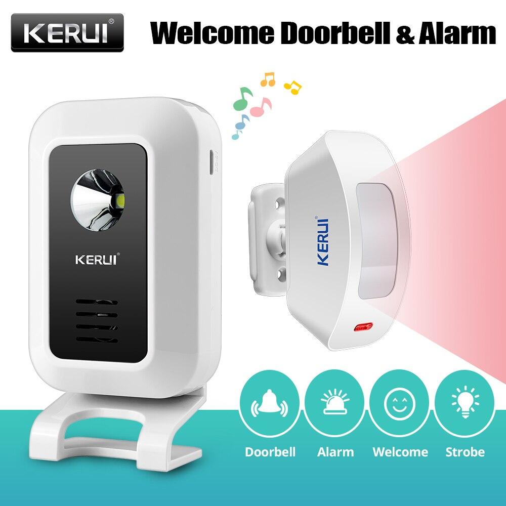Kerui m7 campainha da porta bem-vindo carrilhão sem fio sensor de movimento da porta alarme para loja em casa