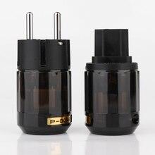 Zestaw P 004E rod Platinum mosiężne słupki EUR zasilanie prądem zmiennym wtyczka Schuko + C 004 IEC złącze może pomieścić Cable10mm   21mm