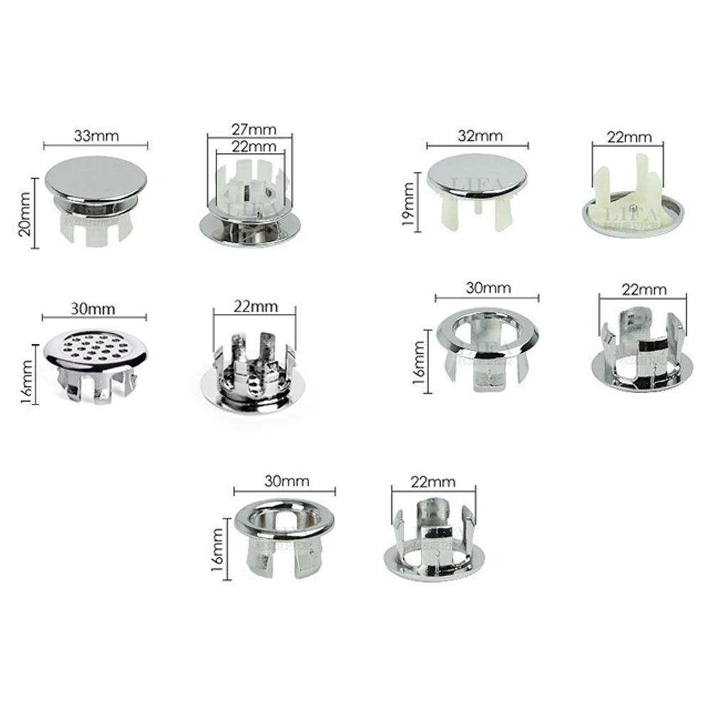 Fast Delivery Bathroom Tool Basin Spare Replacement Round Overflow Cover Mesh Ring Wash Basin Overflow Ring Bathroom Accessories