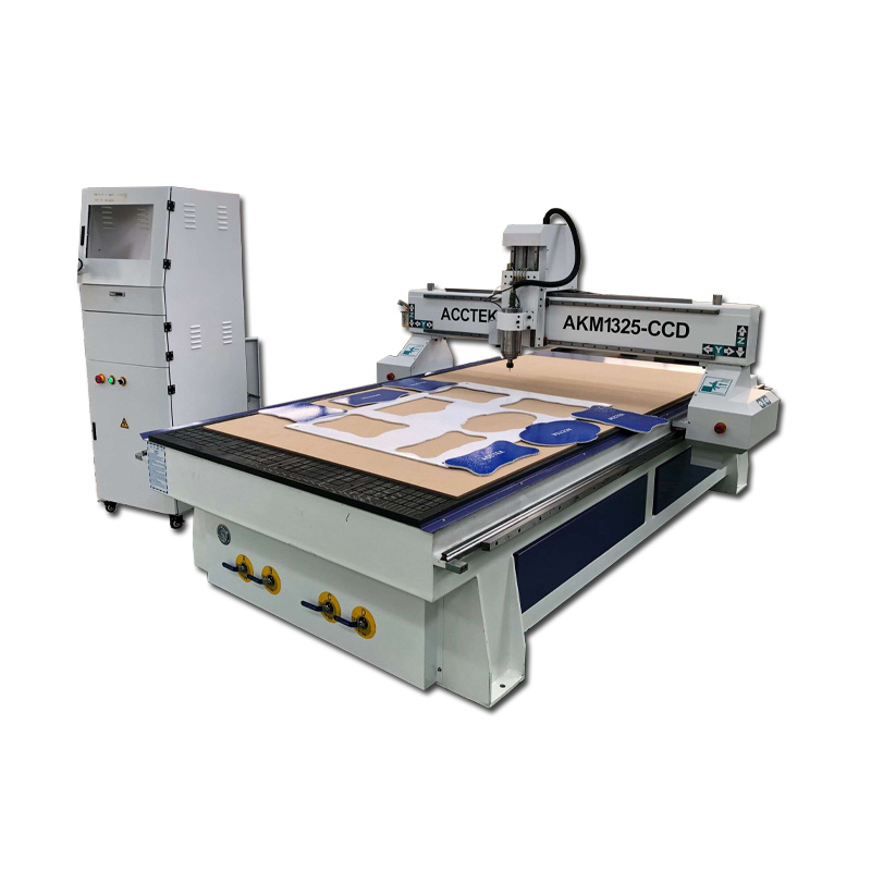 Acctek Cnc Router With CCD Camera And Knife Cutting Head, Cnc Wood Panel Cutting Machine For Sale AKM1325