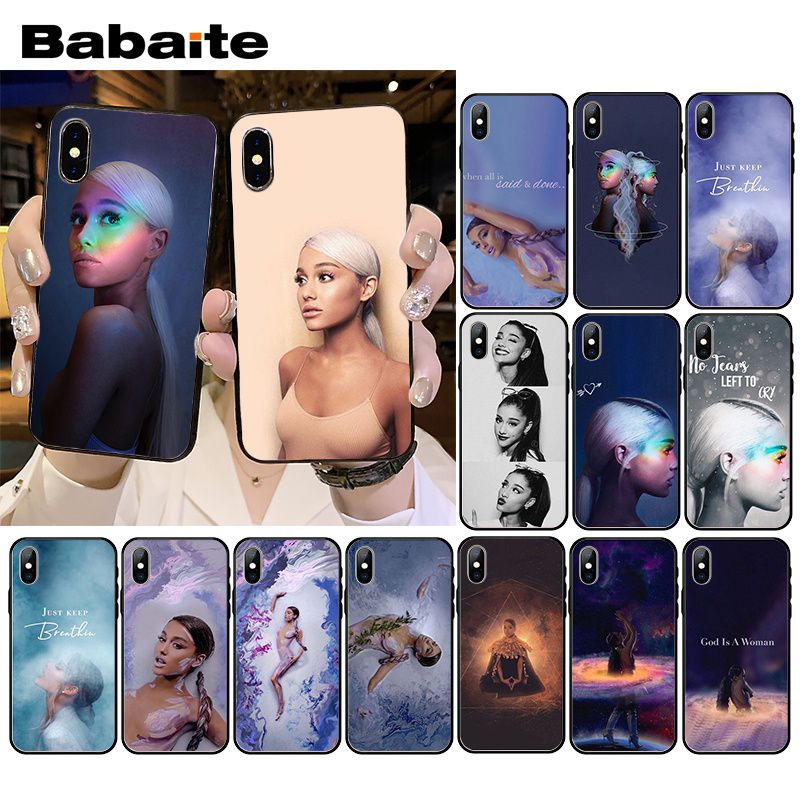 Babaite <font><b>Ariana</b></font> <font><b>Grande</b></font> AG Rainbow Sweetener Phone <font><b>Case</b></font> for <font><b>iPhone</b></font> XR 11 Pro MaxXS MAX 8 7 6 <font><b>6S</b></font> Plus X 5 5S SE image