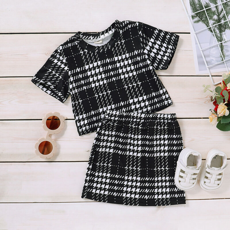 Fashion Toddler Baby Girl Autumn Clothes T-shirt Tops+Tutu Dress Cotton Outfits
