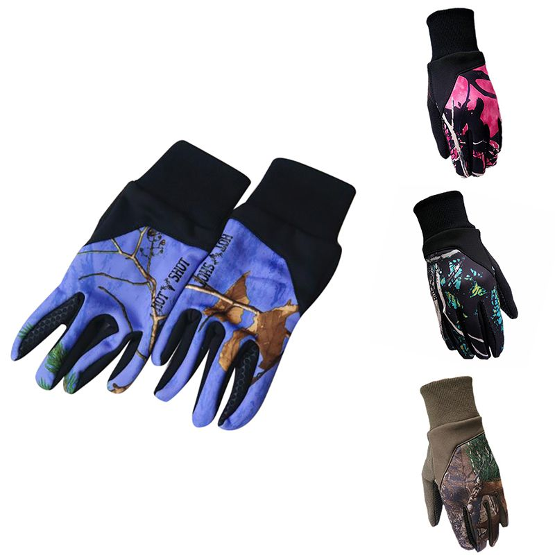 Sports Touchscreen Gloves Winter Warm Outdoor Cycling Running Climbing Smartphone Color Gloves For Men Women