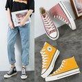 2019 осень Новый стиль 1970 с высоким берцем модная парусиновая обувь Для женщин корейско-Стиль универсальные Ulzzang студентов Тканевая обувь