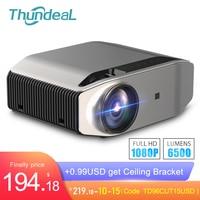 ThundeaL Full HD nativa de 1080P TD96 Proyector 6500 lúmenes LED inalámbrico WiFi Multi pantalla Beamer 3D Video Proyector   -