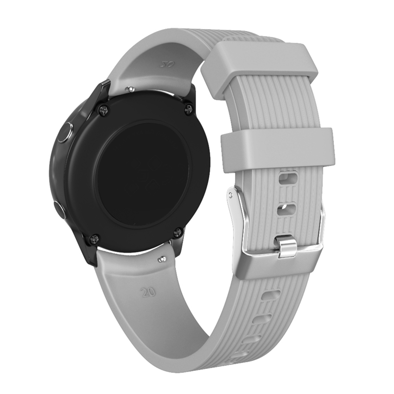 New Silicone Applicable Striped Silicone Strap For Everyday Clothing With Strap 20mm for Galaxy Watch Active|Smart Accessories| |  - title=