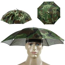 Fishing Cap Outdoor Sport Umbrella Hat Hiking Camping Headwear Cap Head Hats Camouflage Foldable Sunscreen Shade Umbrella Hat(China)